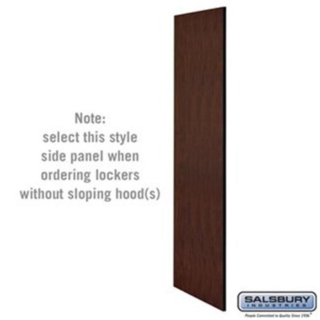 Salsbury 22237MAH 24 in. Side Panel for Extra Wide Designer Wood Locker without Sloping Hood, Mahogany