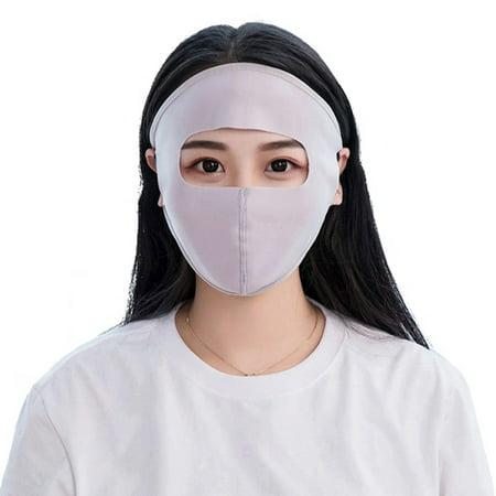 ZEDWELL Reusable Face Masks Cycling Running Sunscreen mask neck unisex spring summer silk scarf bib female mask cover face ice silk mask