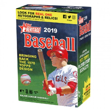2019 Topps Heritage Baseball Blaster Box (8 Packs/9 Cards)