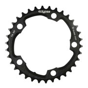 Eclypse, Glide-Pro 110, 34T, 8-10sp, BCD: 110mm, 5 Bolt Inner Chainring, Alloy, Black