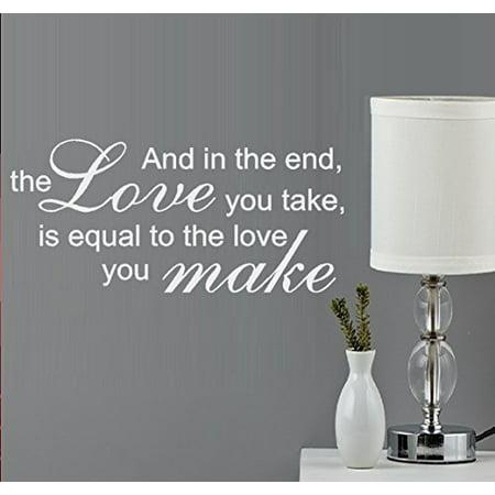 The love you Take #2 Wall or Window Decal 13