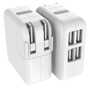Power 4 Ports USB Plug, ANKO Multi-port Travel Ac Home Wall Charger Adapter(1 PACK)