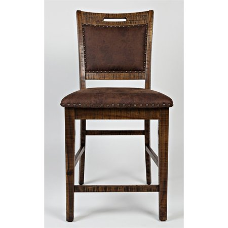 "Bowery Hill 24"" Upholstered Counter Stool in Brown (Set of 2) - image 4 of 8"