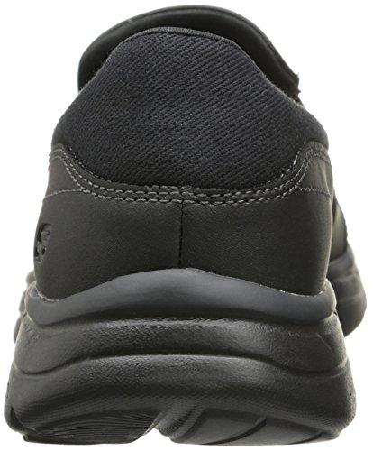Skechers USA Men's Glides Calculous Slip-On Loafer, Black, 9.5 M US