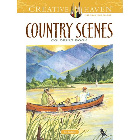 Creative Haven Coloring Books: Country Scenes Coloring Book (Paperback) (Coloring Pages Halloween Printables)