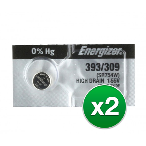 Replacement Battery for Energizer 393 309TZ (2-Pack) Replacement Battery by Energizer