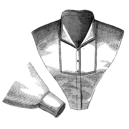 Sewing Pattern: 1870 Collar & Sleeve with Percale Trim Pattern