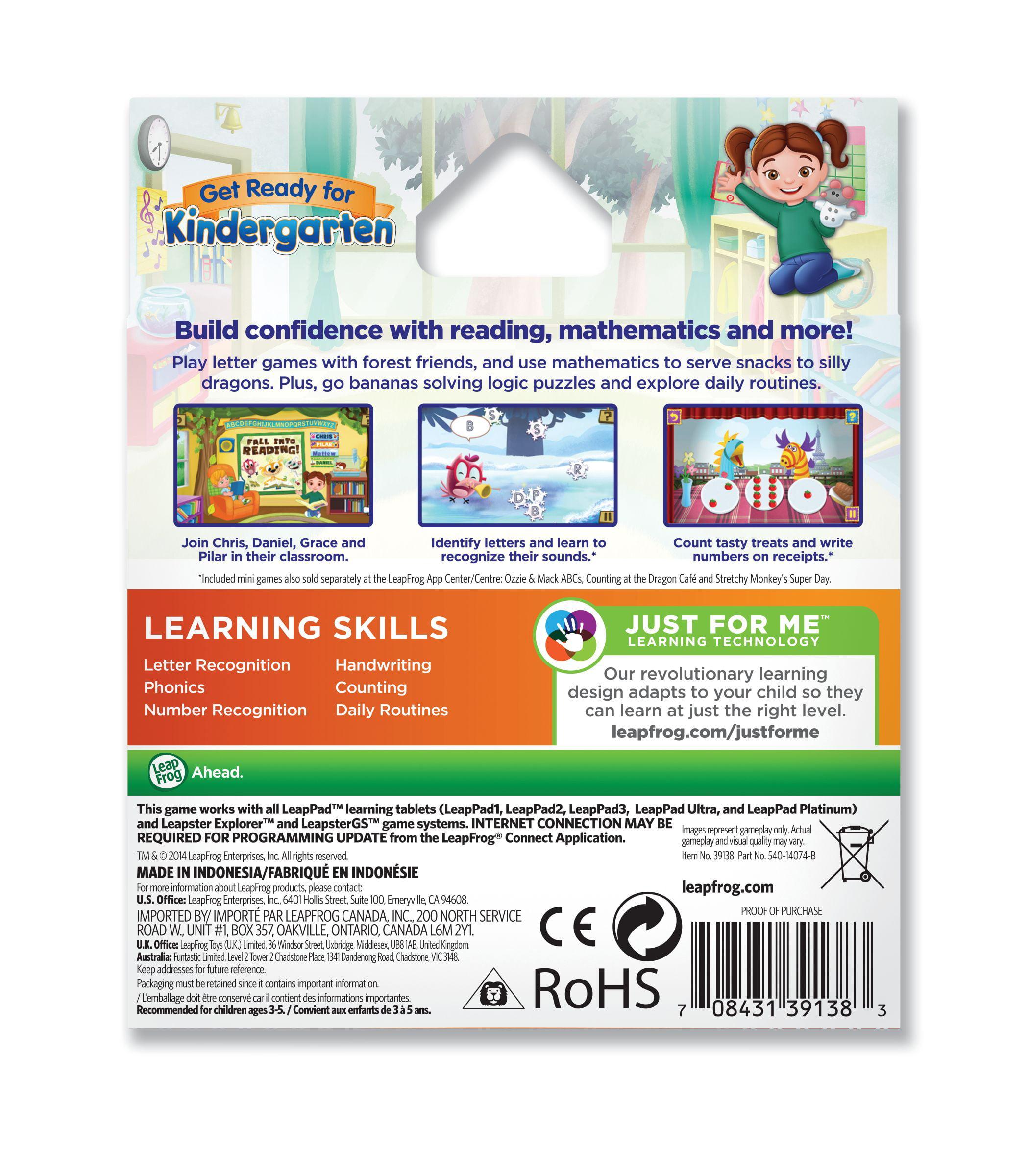 LeapFrog Get Ready for Kindergarten Learning Game Pack