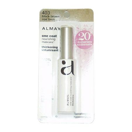 9bb3865af11 almay one coat thickening mascara, black brown - Walmart.com