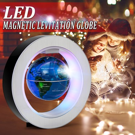 4 Inch Magnetic Levitation Floating Globe Map LED Light Home Office Desktop Decoration School Supplies Christmas Gift - Christmas Float Supplies