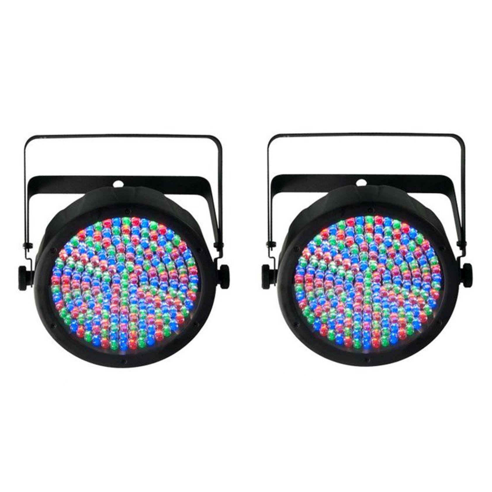 (2) Chauvet SlimPar 64 LED DMX Slim Par Can Stage Pro DJ RGB Lighting Effects by Chauvet Dj