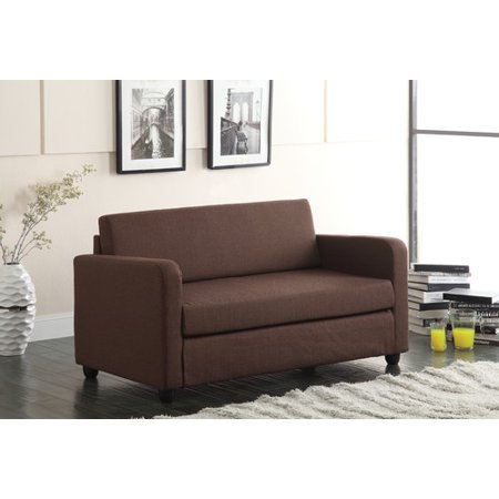 ACME Conall Adjustable Futon Sofa in Chocolate Fabric