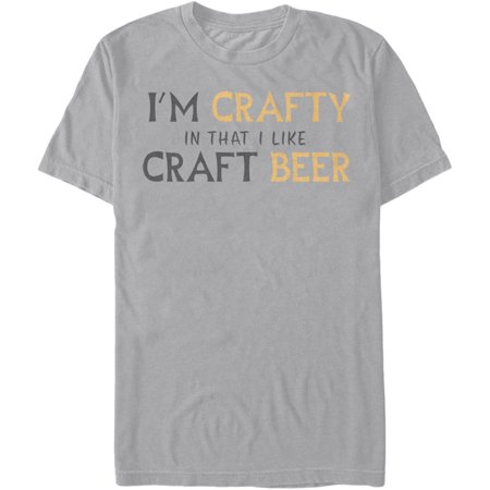 Lost Gods Men's  Crafty Beer T-shirt Silver