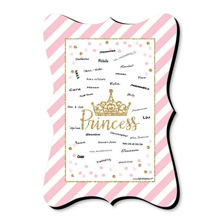 Little Princess Crown - Unique Alternative Guest Book - Baby Shower or Birthday Party Signature Mat - Baby Shower Outfits For Guests