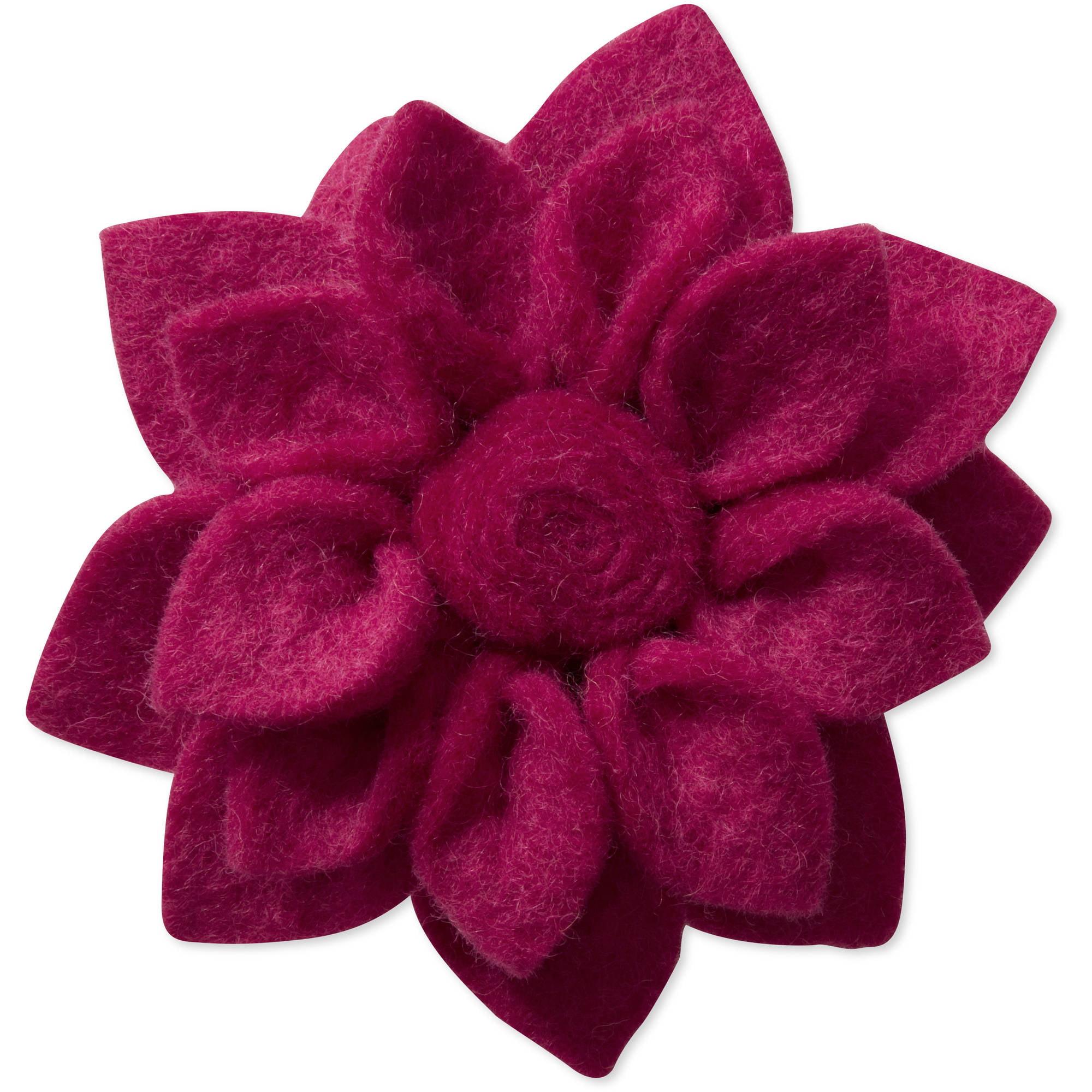 Felt 3.5'' Dahlia Flower Pin by Friends Handicrafts for Global Goods Partners