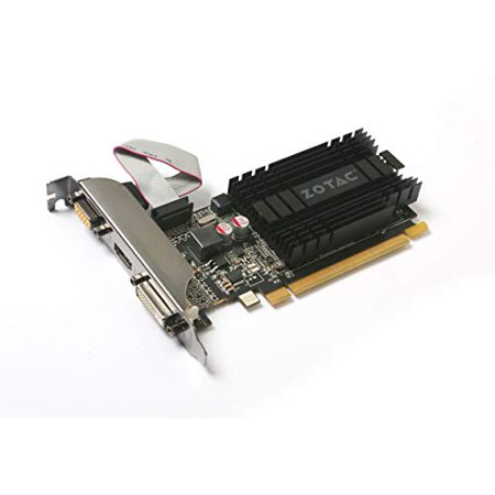 Zotac GeForce GT 710 Graphic Card - 954MHz Core - 2GB DDR3 SDRAM - PCI Express 2.0 - Low-profile - Single Slot Space Required - image 1 de 4