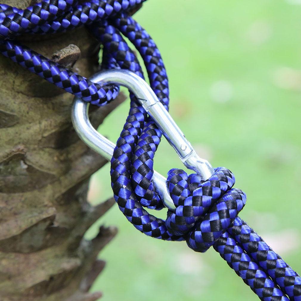 2017 Outdoor Portable Nylon Hammock With 660 Pounds Maximum Capacity BLUE AND GRAY
