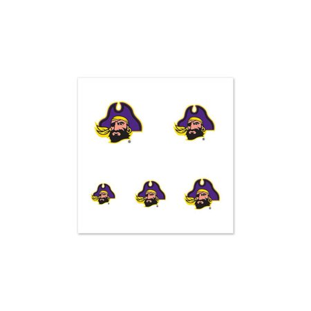 East Carolina Pirates  Fingernail Tattoos - 4 - Pirate Makeup Ideas