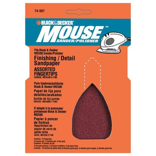 Black and Decker 74-587 Mouse Sander / Polisher Sandpaper Finger Tips