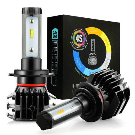 JDM ASTAR Newest Version 4S 8000 Lumens Extremely Bright DIY 5 Color Temperature High Power 9040 9140 9145 9050 9155 H10 All-in-One Fanless Design LED Headlight Bulbs, Fog Light Bulbs,