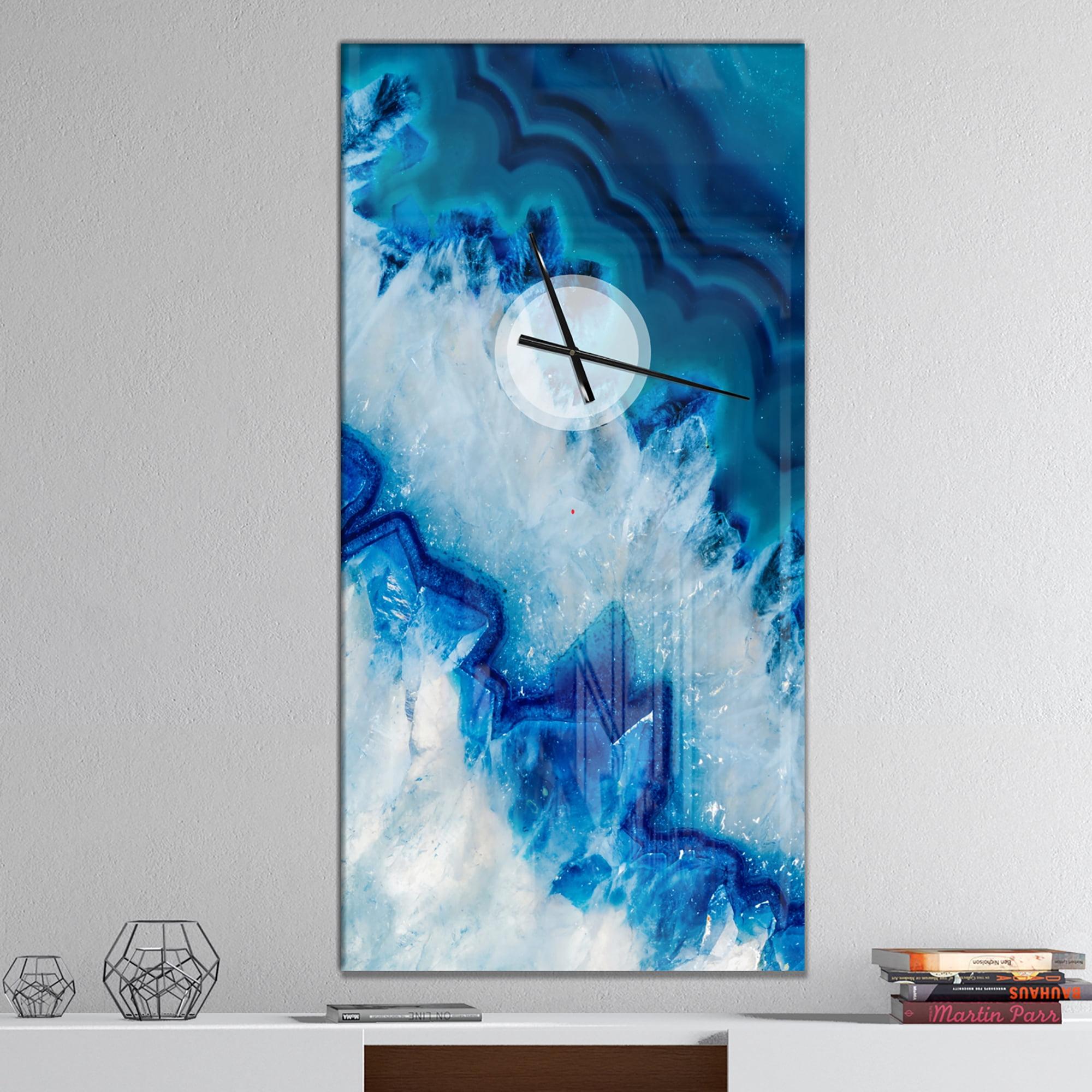 Designart Geode Slice Macro Large Wall Clock Walmart Canada