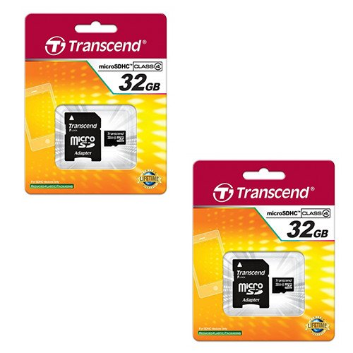 Motorola DROID TURBO LTE Cell Phone Memory Card 2 x 32GB microSDHC Memory Card with SD Adapter (2 Pack)