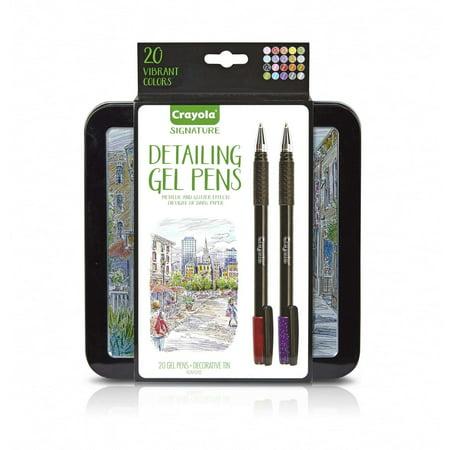 Crayola 20 Count Signature Detailing Gel Pens with Decorative Tin - Decorative Pens