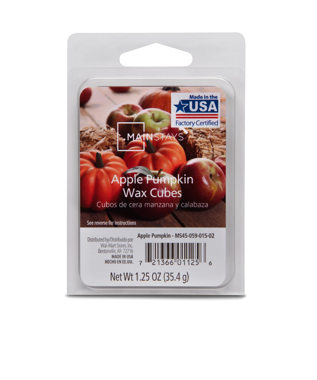 Mainstays 6-Cube Apple Pumpkin Wax Melts, 1.25 oz, Single