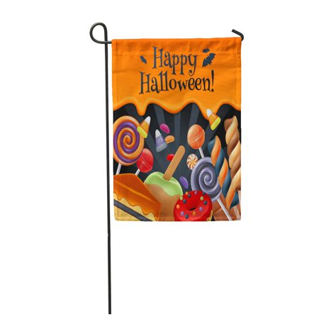 KDAGR Halloween Sweets Colorful Party Lollipop Candy Corn Cake Caramel Garden Flag Decorative Flag House Banner 12x18 inch](Halloween Sweets Haul)