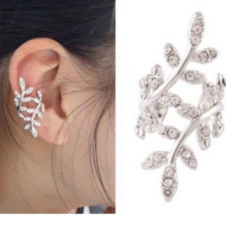 Sexy Sparkles Ear Cuff Clip Wrap Earring Stud For Women And Girls Clip On The Ears