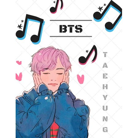 KPOP Saranghae BTS Bias V ARMYs Notebook: Bangtan Boys Kim Taehyung Watercolor Paint College Ruled Journal (Paperback) (Hardcover College Ruled Journal)