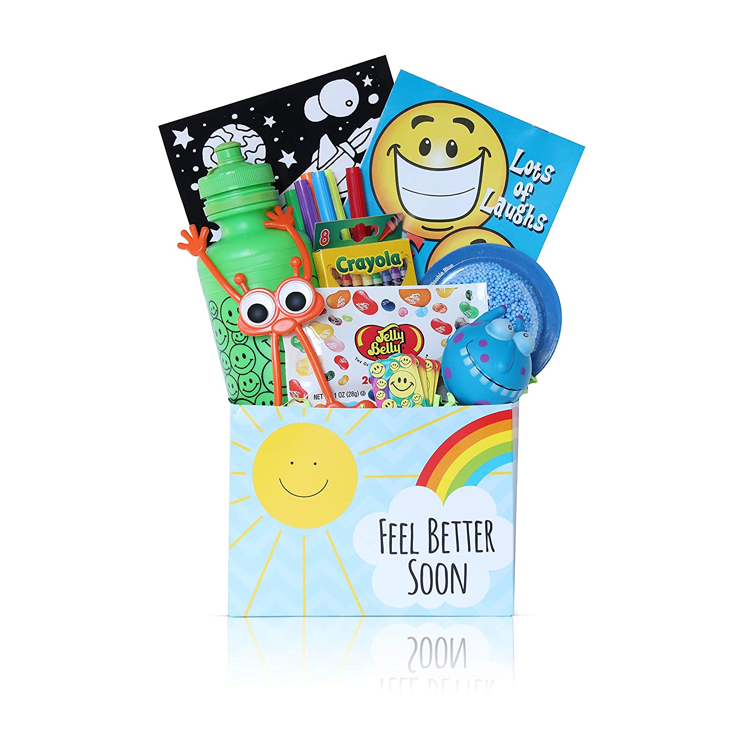 Get Well Gift Basket For Kids Care Package Get Well Soon Gifts With Fun Activities And Candy Just Right For Boys And Girls Who Are Sick Or Recovering Colors