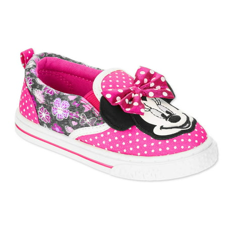 01556dc33be53 Disney - Minnie Mouse Toddler Girls' Casual Slip-on Shoe - Walmart.com