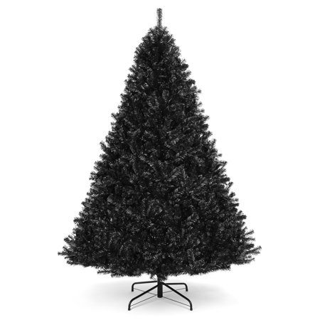 Best Choice Products 6ft Artificial Full Christmas Tree Seasonal Holiday Decoration w/ 1,477 Branch Tips, Foldable Stand - Black Decorating Artificial Christmas Tree