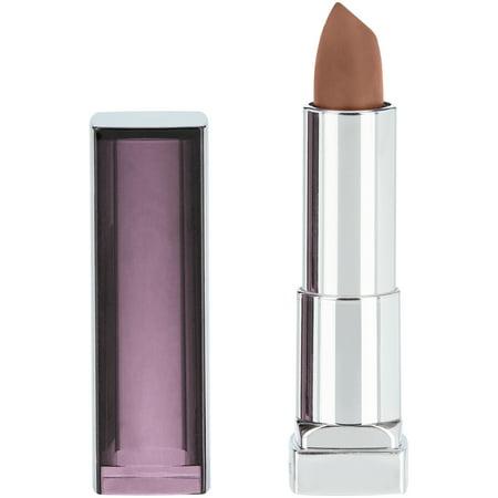 Maybelline New York Color Sensational Creamy Matte Lipstick, Nude Embrace Juicy Rouge Lip Color