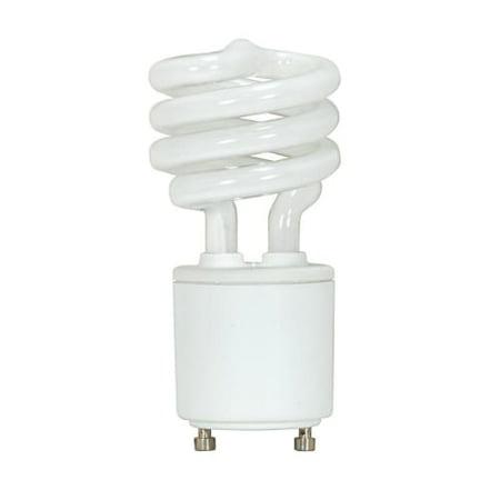 Satco Compact - Satco Lighting S8202 Single 11 Watt T2 Shaped GU24 Base Compact Fluorescent Bulb