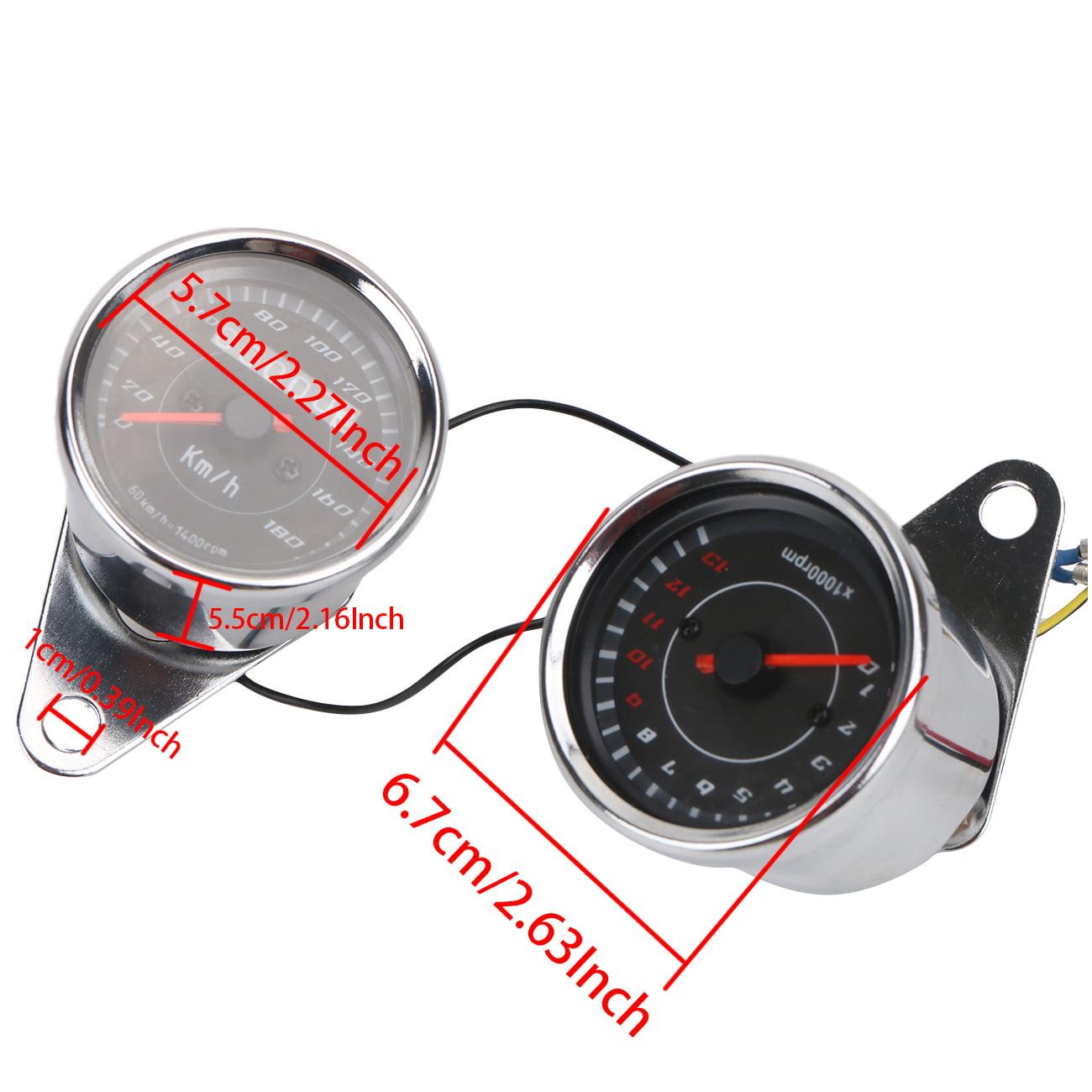 BuyInHouse Universal Motorcycle Odometer Speedometer Tach...