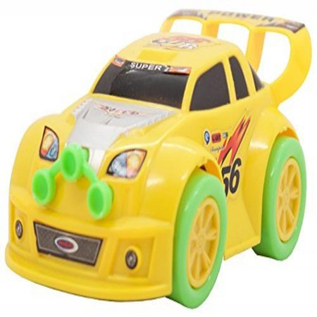 TECHEGE Battery Powered Yellow Toy Car- Flashing Lights, Music, Moves Around on Its Own and Changes Directions When It Touches Something - Great Gift Idea Sure to Keep Kids Entertained for Hours - One Direction Gift Ideas