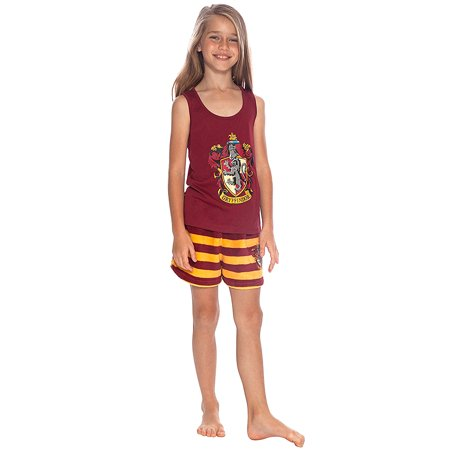 Harry Potter Girls' Gryffindor Racerback Pajama Short Set](Authentic Harry Potter Robes)