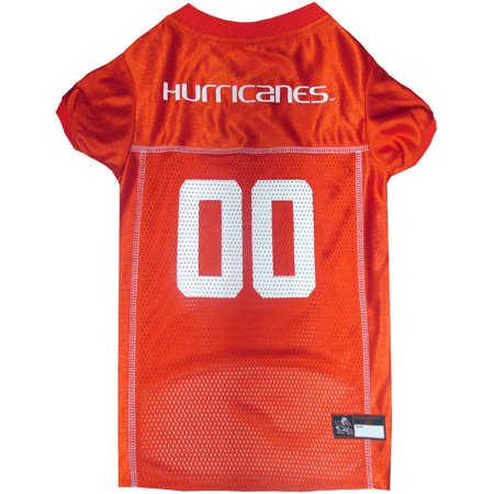 Pets First College Miami Hurricanes Collegiate Dog Jersey, Available in Various Sizes - Costumes In Miami