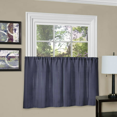 better homes and gardens kitchen curtains set of 2 multiple colors. Black Bedroom Furniture Sets. Home Design Ideas