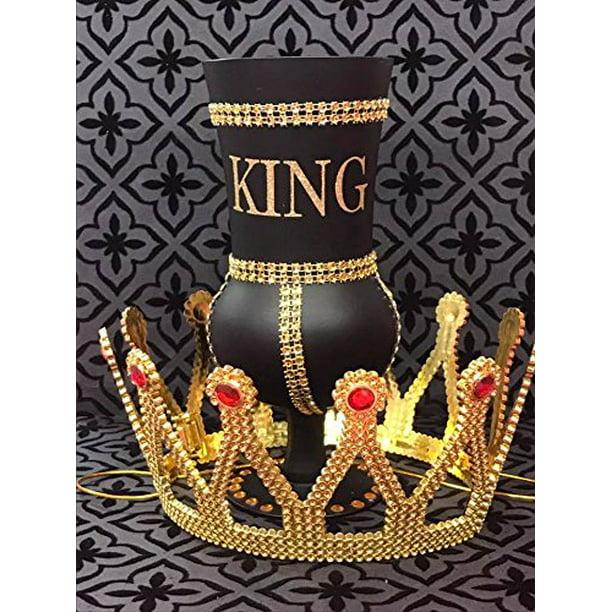 King Birthday Black And Gold Rhinestone Goblet With Crown Cup Prom Birthday Keepsake Gift Idea Walmart Com Walmart Com