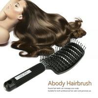 Abody Nylon Detangle Hairbrush Women Hair Scalp Massage Comb Paddle Hair Brush Wet Hair Brush for Hairdressing Salon Black