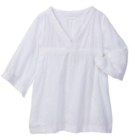 Renaissance Tunic (Azul Little Girls White Lace Detail Renaissance Bell Sleeve)