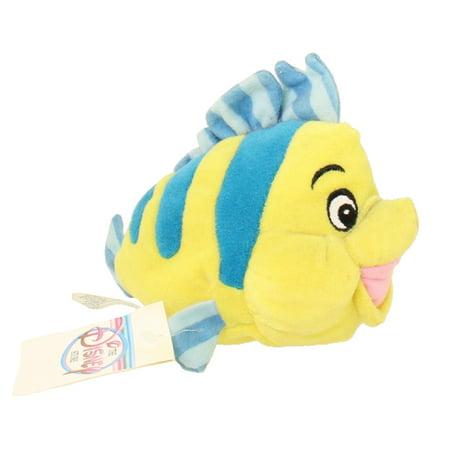 Disney Bean Bag Plush - FLOUNDER (The Little Mermaid) (7.5 inch)