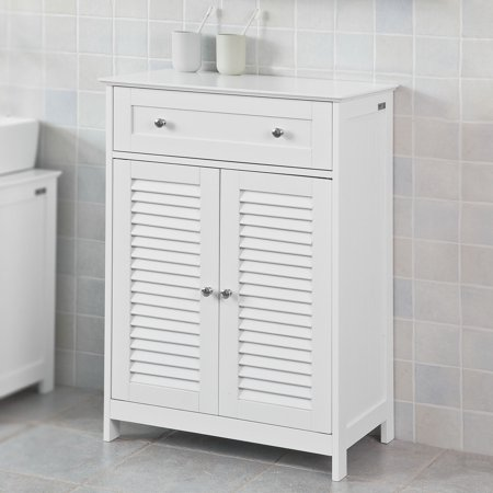 Haotian Bathroom Vanity Setwhite Storage Cabinet With Drawer And Double Shutter Door Frg238