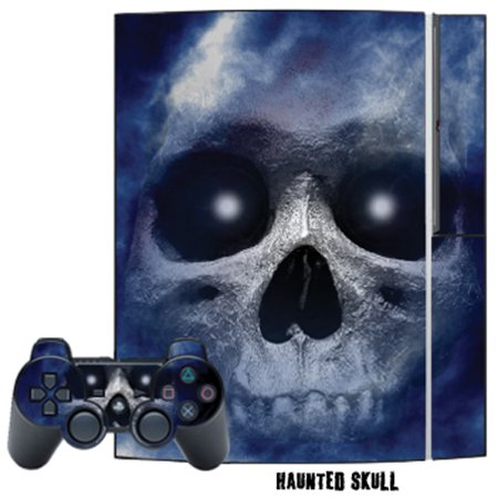 Mightyskins Protective Skin Decal Cover Sticker for Playstation 3 Console + two PS3 Controllers - Haunted Skull ()