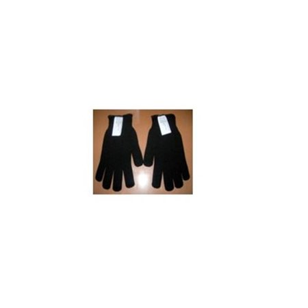 Seamless Metal Shell (Gems Manufacturing Systems 211390604 Double-Layered Seamless Wool Shell Gloves, Black & Brown - Large )