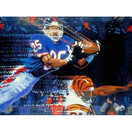 "Cincinnati Bengals vs. New York Giants Deacon Jones Foundation 24"" x 36"" Interception Dueling Giclee on Canvas - No Size"