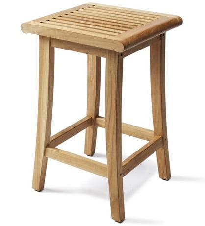 WholesaleTeak Outdoor Patio Grade A Teak Wood Giva Bar Stool / Chair #WMBRBLS